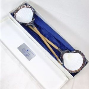 Ruzzetti & Gow Silver Plated Seashells Spoon Set